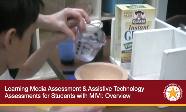 Learning Media Assessment & Assistive Technology Assessments for Students with MIVI: Overview