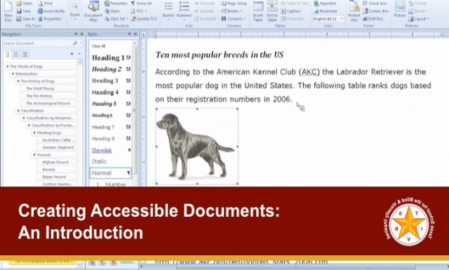 Creating Accessible Documents: An Introduction
