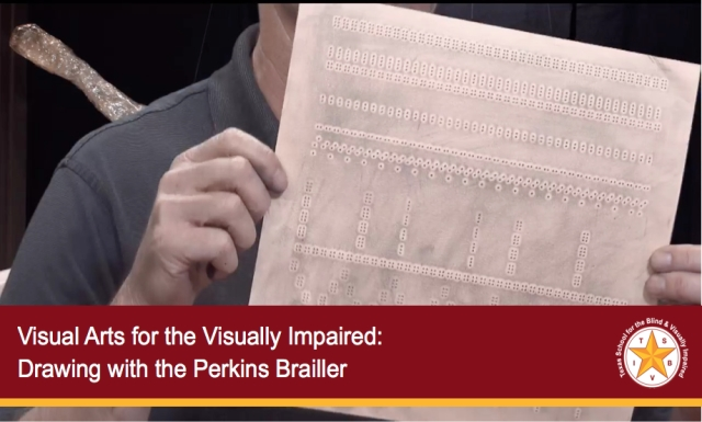 Visual Arts for the Visually Impaired: Drawing with the Perkins Brailler