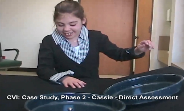 CVI: Case Study, Phase 2 - Cassie, 7 of 13: Direct Assessment
