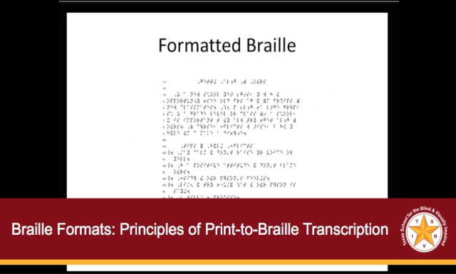 Braille Formats: Principles of Print-to-Braille-Transcription, 2011