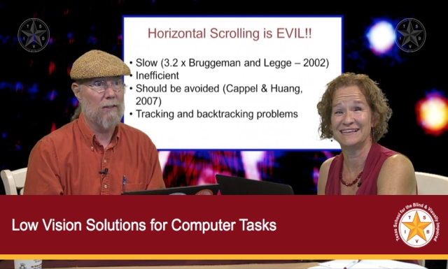 Low Vision Solutions for Computer Tasks