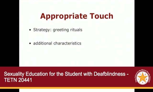 Sexuality Education for the Student with Deafblindness