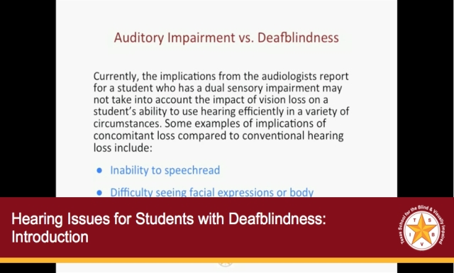 Hearing Issues for Students with Deafblindness: Introduction