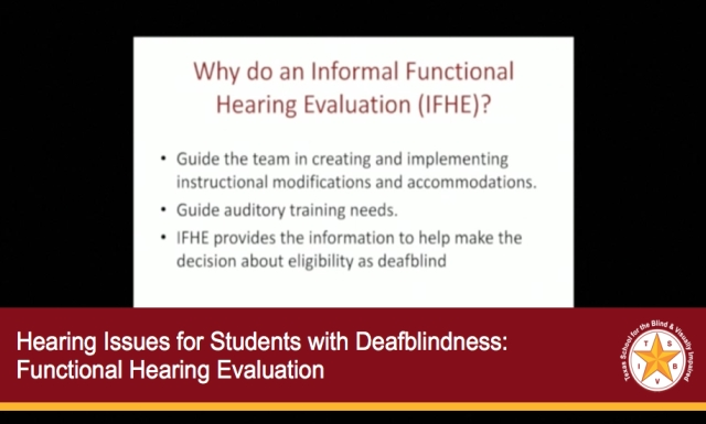 Hearing Issues for Students with Deafblindness #4