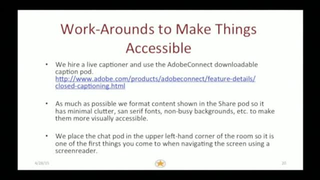 AdobeConnect Accessibility