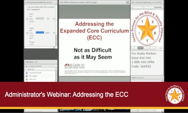 Administrator's webinar: Addressing the ECC