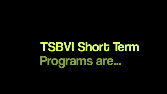 short term programs video