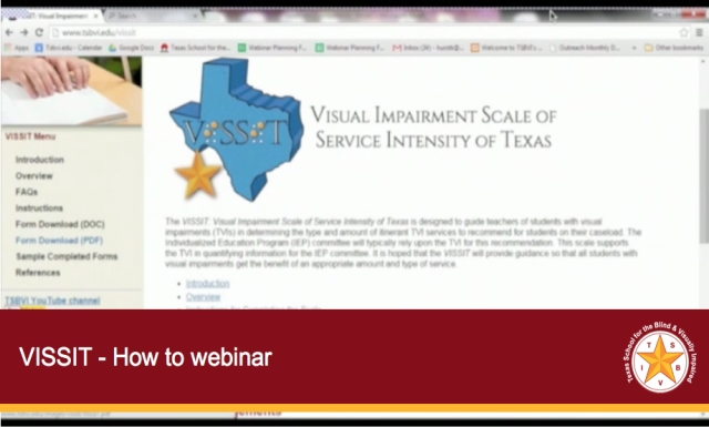 VISSIT - How to webinar