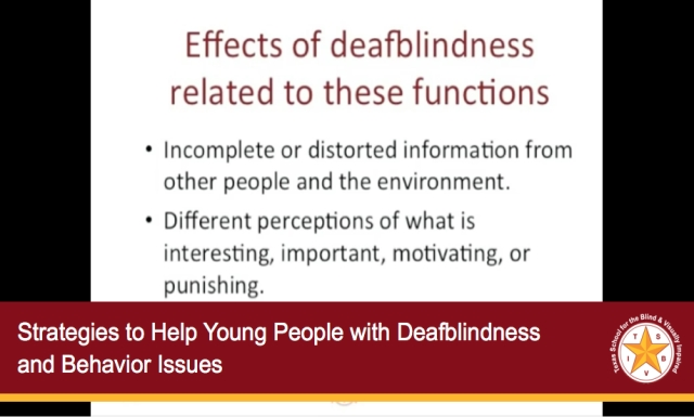 Strategies to Help Young People with Deafblindness and Behavior Issues